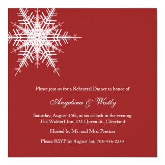 Épouser dans l'invitation de dîner de répétition carton d'invitation  13,33 cm
