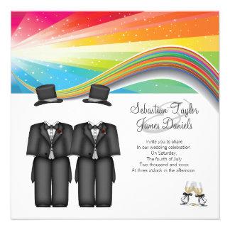 Épouser de deux mariés invitations personnalisées