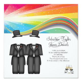 Épouser de deux mariés carton d'invitation  13,33 cm