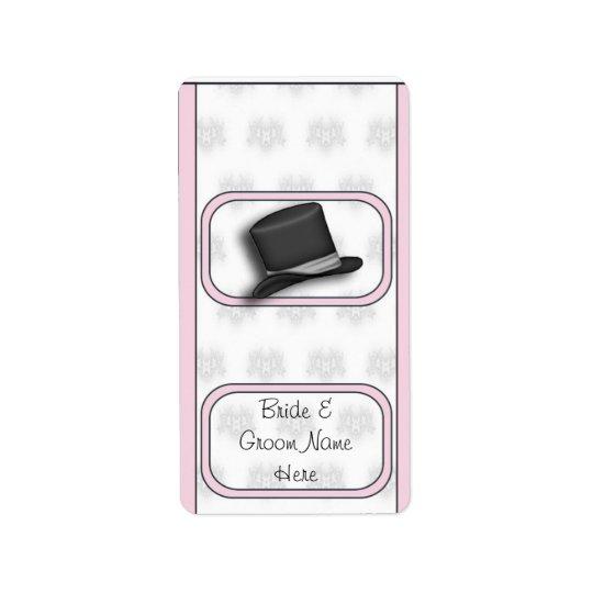 Épouser de mini étiquettes nuptiales d'emballage d