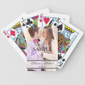 Épouser des cartes de jeu avec la photo jeu de 52 cartes
