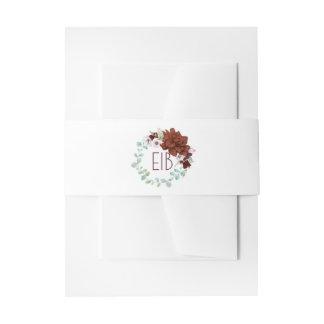 Épouser élégant d'aquarelles de guirlande florale bandeaux de faire-part