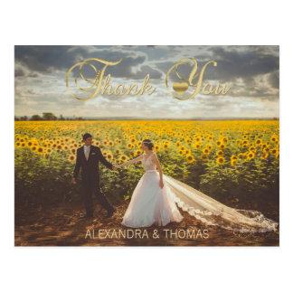 Épouser élégant magnifique de Merci de coeur d'or Cartes Postales