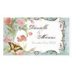 Épouser floral de fleurs de tulipe rose de pivoine cartes de visite professionnelles