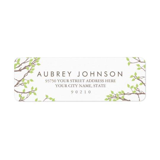 Épouser heureux de branches étiquettes d'adresse retour