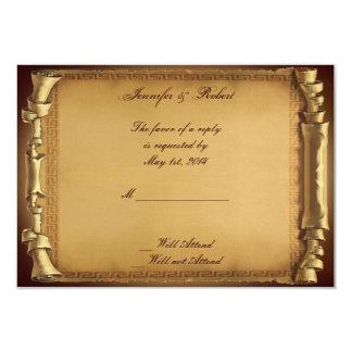 Épouser il était une fois la carte de réponse carton d'invitation 8,89 cm x 12,70 cm