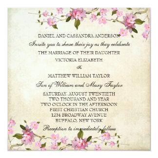 Épouser japonais rose de fleurs de cerisier invitation personnalisable