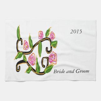 Épouser la conception serviette pour les mains