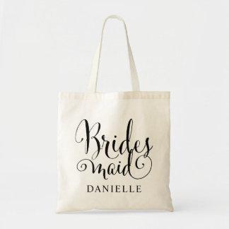 Épouser la demoiselle d'honneur nuptiale de la tote bag