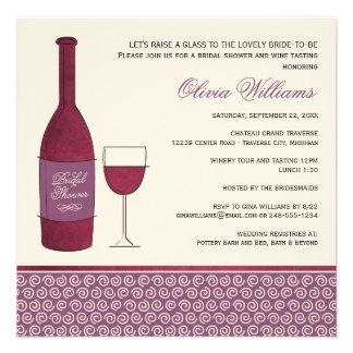 Épouser la douche nuptiale invite le thème de vin invitations