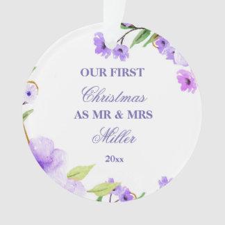 Épouser la première fleur d'aquarelle d'ornement