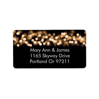 Épouser le charme de Hollywood d'or d'adresse Étiquette D'adresse