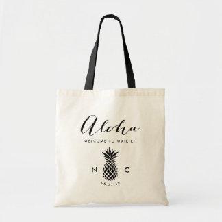 Épouser le monogramme bienvenu d'ananas du sac |