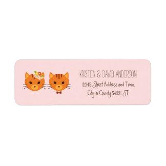 Épouser lunatique de chats de forêt (rougissez) étiquette d'adresse retour