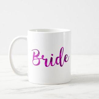 Épouser mignon pourpre fuchsia rose de tasse de