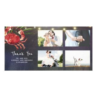 Épouser nautique de Merci de mariage de plage de Carte