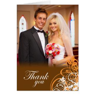 Épouser orange élégant de remous vous remercient cartes