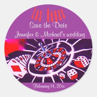 Épouser pourpre de Las Vegas de passion Sticker Rond