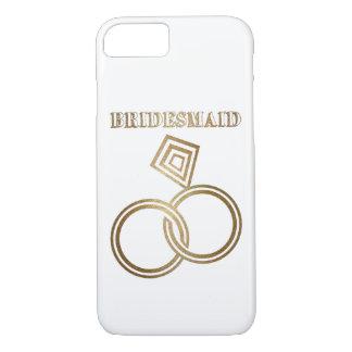 Épouser romantique d'anneaux d'or de demoiselle coque iPhone 7