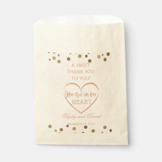 Épouser rose de MERCI de Champagne de parties Sachets En Papier