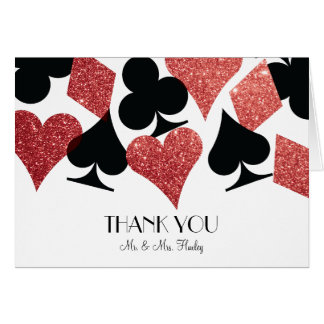 Épouser rouge de Las Vegas de destin de Cartes De Vœux