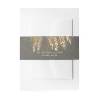 Épouser vintage de lumières de branches d'or de bandeau de faire-part