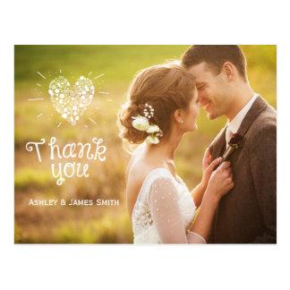 Épouser vous remercient carte postale de carte