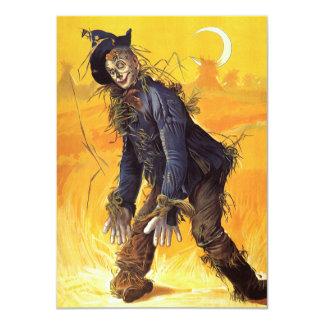Épouvantail vintage de magicien d'Oz Carton D'invitation 11,43 Cm X 15,87 Cm