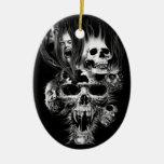Epouvante d'Halloween - Ornement Ovale En Céramique