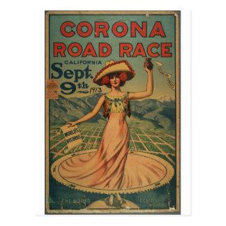 Épreuve sur route de couronne - 1913 cartes postales