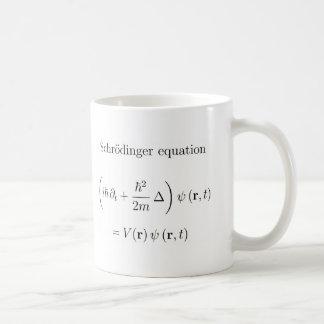 Équation de Schrodinger avec le nom Mug