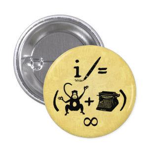 Équation drôle de machine à écrire de singe badge rond 2,50 cm