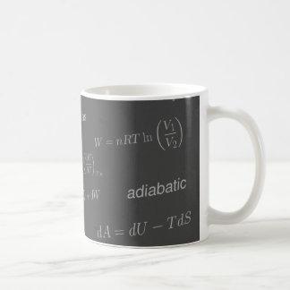 Équations de la thermodynamique mug blanc
