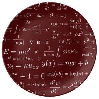 Équations de plat de la Chine de maths et de la Assiette En Porcelaine