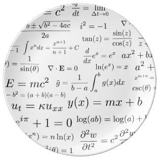 Équations de plat de la Chine de maths et de la Assiettes En Porcelaine