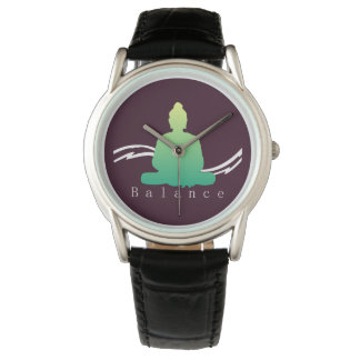 """""""Équilibre"""" beau Bouddha Montres Bracelet"""