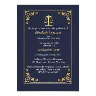 Équilibré dans des invitations d'obtention du carton d'invitation  12,7 cm x 17,78 cm