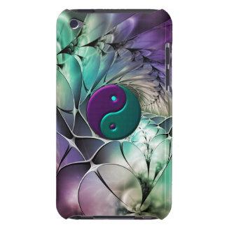 Équilibre de vibration de Yin-Yang de fractale Étui Barely There iPod