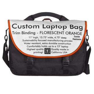Équilibre ORANGE FLUORESCENT d'ordinateur portable Sacoches Ordinateur Portable