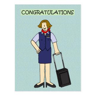 Équipage de cabine de félicitations de retraite carte postale