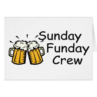 Équipage de dimanche Funday (bière) Carte De Vœux