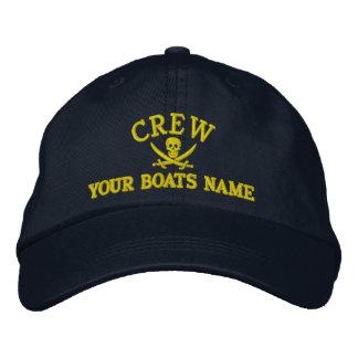 Équipage personnalisé de navigation de pirate casquette brodée