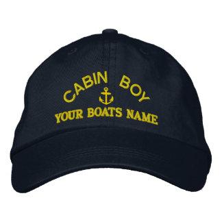 Équipage personnalisé de yacht de garçon de cabine casquette de baseball brodée