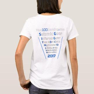 Équipe +100 femmes du T-shirt 2017 de jeu