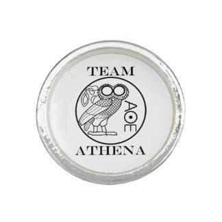 Équipe Athéna (police de graveurs) Bague Avec Photo