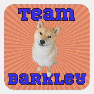Équipe Barkley - autocollants carrés, brillants