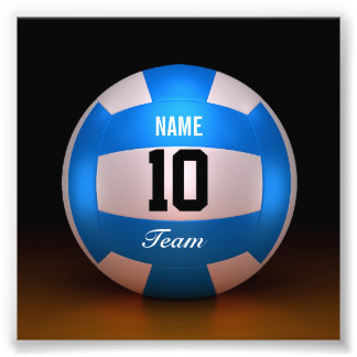 Équipe bleue de volleyball impression photo