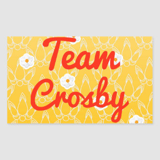 Équipe Crosby Autocollant Rectangulaire