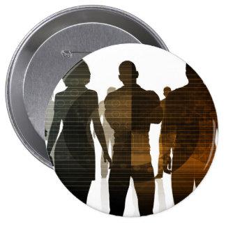Équipe d'affaires de professionnels se tenant pour badges