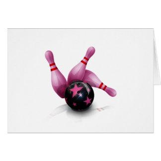 Équipe de bowling - boule et goupilles cartes